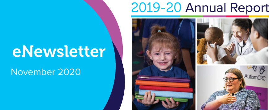 eNewsletter November 2020 featuring 2019-20 Annual Report