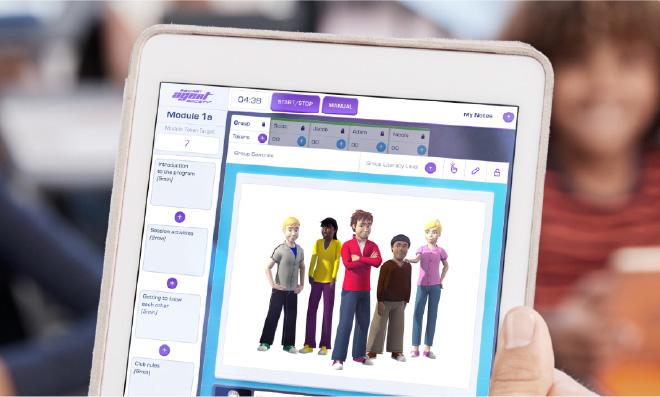 SAS Small Group Program digital edition displayed on a tablet