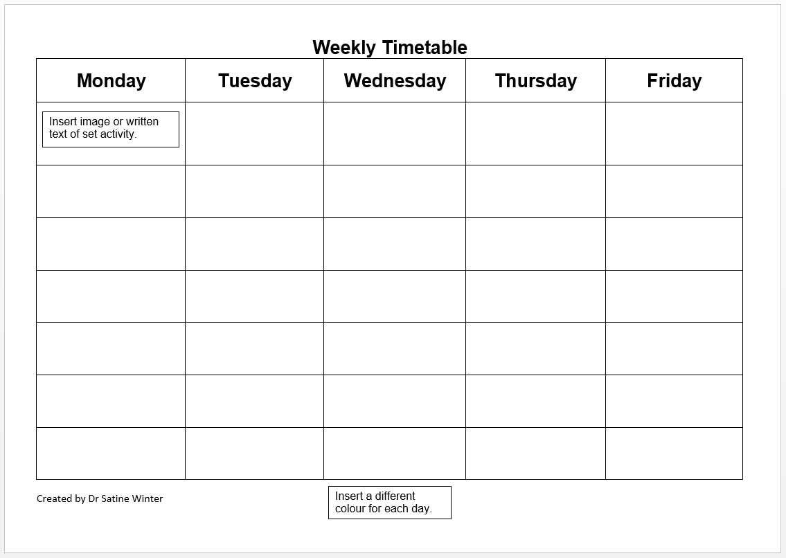 Templates - Visual Schedules