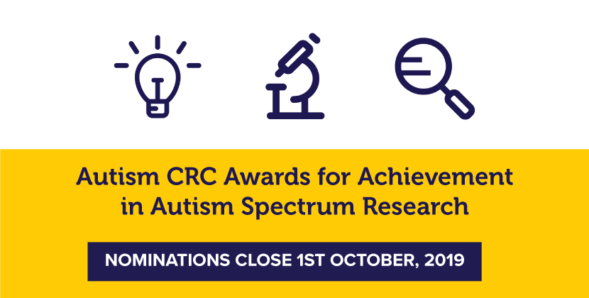 Autism CRC Awards - nominations close 1st October 2019
